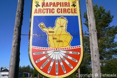 Arctic Circle in Rovaniemi Finland