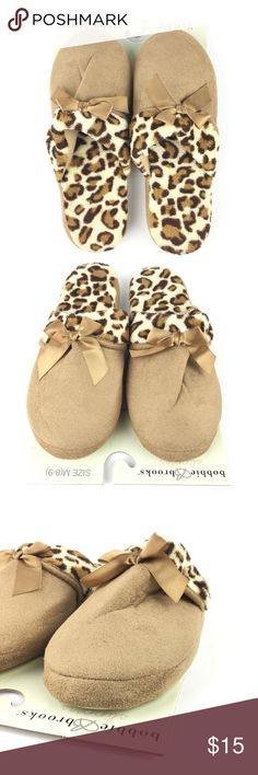 2ef594c3aad Slippers Medium (8-9) Leopard Cheetah Animal Print Listing Includes 1 Bobbie  Brooks