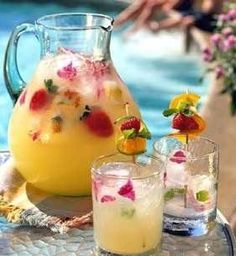 Recipe for Summer Pineapple Strawberry Cooler -  I am ready for summer! This recipe just puts me in the summer mood. Come-on sunshine!
