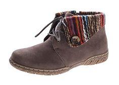 Damen Stiefeletten Stoffumschlag Schuhe Grau Knöchelschuhe Zierknopf Schnürer Gr. 41