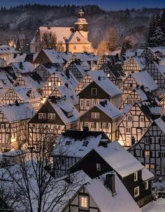 Winter Scene in Freudenberg, Germany . - SoNoë - Winter Scene in Freudenberg, Germany . Winter Scene in Freudenberg, Germany . Winter Szenen, Winter Magic, Winter Travel, Winter Holiday, Snow Travel, Beautiful World, Beautiful Places, Beautiful Pictures, Architecture Antique