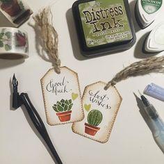 Tag's Time  #instagram #cool #amazing #instascrap #instaplanner #cartopazze #filofax #kikkik #midori #planner #embossing #embosser #piantegrasse #cactus #lawnfawn #scrap by isognidilumi