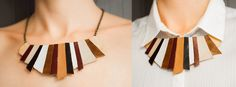 leather necklace Leather Necklace, Tassel Necklace, Handmade Accessories, I Shop, Fashion Ideas, Shopping, Jewelry, Jewellery Making, Leather Collar