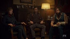 "Fargo 2x03 ""The Myth of Sisyphus"" - Dodd Gerhardt (Jeffrey Donovan), Bear Gerhardt (Angus Sampson) & Floyd Gerhardt (Jean Smart)"