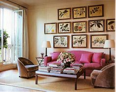 Lee's (R.) current apartment in Paris is now the home of her beloved watercolors, which are revealed in the ELLE Decor article as having been a gift from the Duke of Beaufort. This just goes to show you that the things you love will always look at home in your space, wherever that may be.   (Image: ELLE Decor, April 09, Eric Bowman)