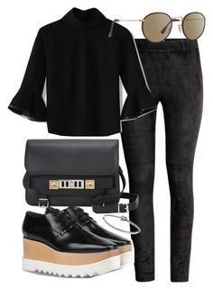 """""""Untitled #19724"""" by florencia95 ❤ liked on Polyvore featuring H&M, STELLA McCARTNEY, Proenza Schouler, Michael Kors, Chicwish and Ray-Ban"""
