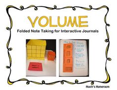 These templates can be easily assembled and added to an interactive math notebook. They help students understand the basic principles of volume --gotta have these.