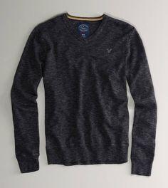AE V-neck Sweater - New Ebony Heather