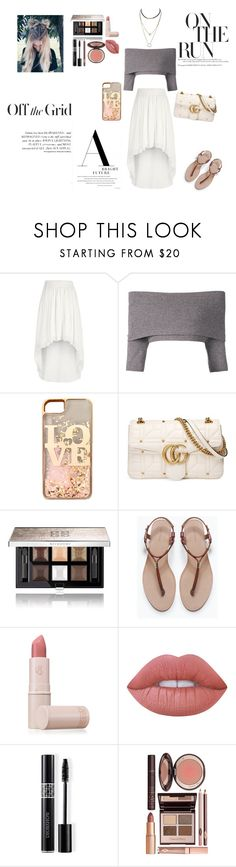 """""""Fancy✨"""" by morgan2017 ❤ liked on Polyvore featuring River Island, Dorothee Schumacher, claire's, Gucci, Givenchy, Zara, Lipstick Queen, Lime Crime, Christian Dior and Charlotte Tilbury"""