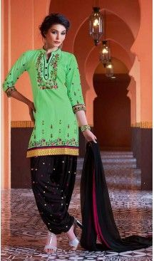 Mint Green Color Cotton Straight Cut Stitched Patiyala Suit with Dupatta… #Heenastyle #Punjabisuit #Salwarsuit, #SalwarKameez, #Dreses, #Patiyala
