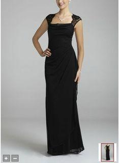 David's+Bridal+Bridesmaids+Dress+Cocktail | David's Bridal Bridesmaid Dresses Cap Sleeve Long jersey Dress with ...