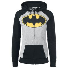 "Batman Hooded zip, Women ""Comic Design"" black"