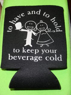 Double sided Personalized Koozie FREE SHIPPING by VinylChatter, $6.00