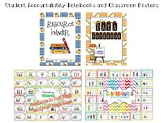 Student Accountability Notebooks, Genre and Comprehension Posters for Back to School