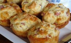 Breakfast Recipes, Snack Recipes, Cooking Recipes, Breakfast Ideas, Food Network Recipes, Food Processor Recipes, Cyprus Food, Cheese Muffins, Smoked Ham