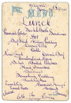 A New Exhibit Of Vintage British Menus Takes You Back In Time