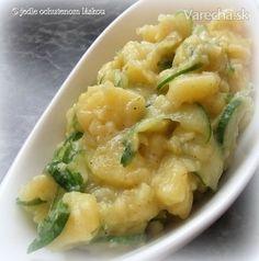 Švábsky zemiakový šalát s uhorkou - Recept Cooking Recipes, Healthy Recipes, Yams, Potato Salad, Mashed Potatoes, Macaroni And Cheese, Food And Drink, Homemade, Ethnic Recipes