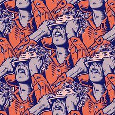 Album Covers by Comic Book Artists Art And Illustration, Musik Illustration, Vinyl Lp, Vinyl Cover, Music Covers, Album Covers, Cover Art, Techno, Comic Kunst