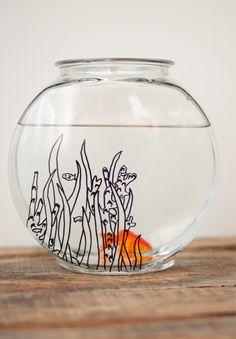 Doodle Fish Bowl wit