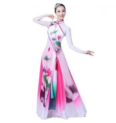 1fb3b57dc7a7 Ancient classical Chinese folk dance dresses women's female competition stage  performance fairy drama anime cosplay dance costumes