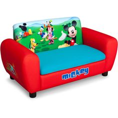 Disney Mickey Mouse Sofa with Storage: Toddler : Walmart.com