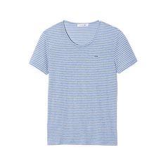 T-shirt à fines rayures en jersey fluide