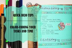 Colour coding tasks in your bullet journal for better productivity and time management