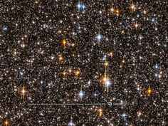 Hubble peered at 180,000 stars in the crowded central bulge of our galaxy to search for planets around other stars. The planets could not be imaged directly, but their presence could be calculated from the behavior of their home stars.