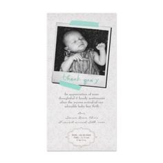 $1.25 baby boy thank you / birth announcement photo cards