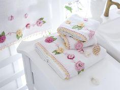Lizzie Handmade Crochet Towel-Handmade Guest Towel-Handmade Towel-Tea Towel-Embroidered Towel-Handmade Gift-Gifts for Her-Lace Towel Crochet Borders, Crochet Motif, Crochet Designs, Crochet Flowers, Soft Towels, Guest Towels, Hand Towels, Peg Bag, Crochet Towel