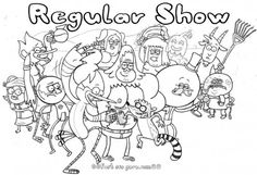 Free Printable #cartoon network #regularshow #coloring pages for kids.free online print out cartoon network regular show coloring pages characters fargelegge tegninger for kids.how to draw regular show characters