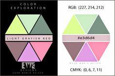 "Eva Maria Keiser Designs: Explore Color:  ""Light Grayish Red"""