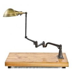 Vintage Antique Unusual early century american industrial articulating graduated bracket o. white machinist workbench lamp with parabola-shaped brass reflector. Vintage Light Fixtures, Vintage Lighting, Nest Furniture, Task Lamps, Steampunk Lamp, Vintage Industrial, Industrial Lighting, Vintage Room, Candlestick Holders