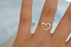 "Wear your ""heart"" on your ring finger...So sweet"