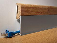 Double Interlocking aluminum skirting bicolor design BI BICOLOR battiscopa by Profilitec Skirting Boards, Baseboards, Cladding, Home Renovation, Architecture Details, Building A House, Home Improvement, Flooring, Furniture