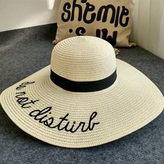Chapeau Large Straw Floppy Sun Hats For Women Fashion Letter Female Summer Hats Ladies Wide Brim Beach Hats