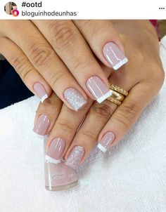 New nails colors classy elegant 68 Ideas Toe Nails, Pink Nails, Manicure And Pedicure, New Nail Colors, Nagellack Trends, French Tip Nails, Classy Nails, Square Nails, Cool Nail Designs