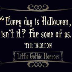 I love tim burton
