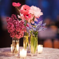 This would be pretty with pink daisies. Potential centerpieces.