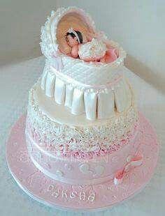 Baby shower cake decor.