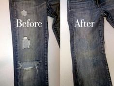 How to repair holes in jeans
