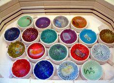 Kiln full of crackle bowls!