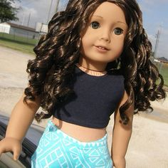 At first I bought Tereasa to save her from those perma-panties (which I no longer have to worry about). But when I heard rumors around agig that the truly me #44 doll was retiring, I thought- I'm super lucky to have her! Such a beautiful doll! So here she is! #americangirl #americangirldoll #americangirldoll #agig #trulyme44