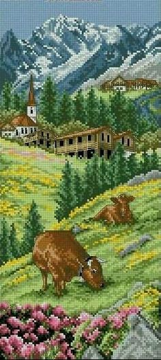 In the meadow cross stitch