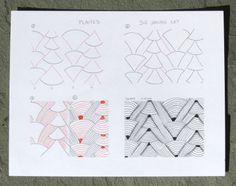 Sue's tangle trips: Plaited - new tangle pattern
