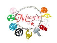THE AVENGERS Logo Charm Bracelet