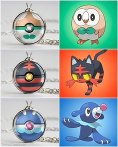 Pokeballs inspired by the Alola Starters in Pokemon Sun and Moon! #pokemon #nintendo #jewelry