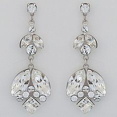 Designer wedding Earrings & Jewelry designed by Debra Moreland for Paris.  Vintage, crystal bridal earrings.  Discover your bridal