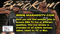Watch any NBA Game live online for free in HD. We offer multiple streams for each NBA live event available on our website. Watch Nba, Nba Tv, Brooklyn Nets, Live Events, Smart Tv, Games, Link, Gaming, Plays