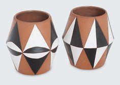 Bullet Vase by Sharon Muir Pair